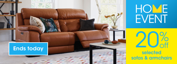 20% off selected sofas & armchairs