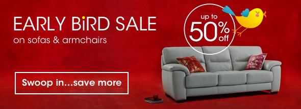 Early Bird Sale sofas