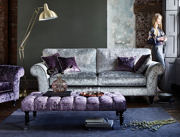 Sofas armchairs footstools furniture village for Fabric couches for sale