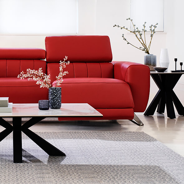 Furniture Village leather sofas