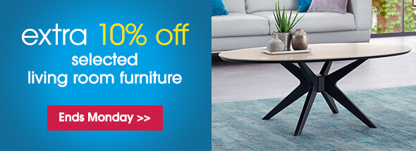 Extra 10% off living room furniture