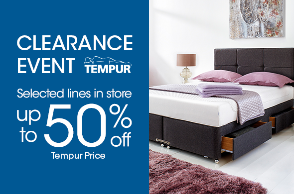 Furniture Village Tempur Clearance Event