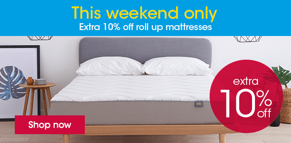 10% Off Roll Up Mattresses This Weekend Onyl