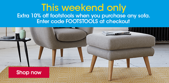 10% Off Footstools This Weekend Only